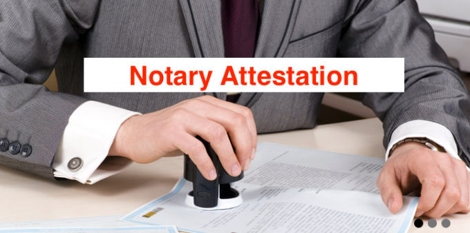 Notary attestation