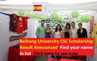 Beihang University CSC Scholarship Result