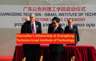 Chancellor's Scholarship at Guangdong Technion-Israel Institute of Technology