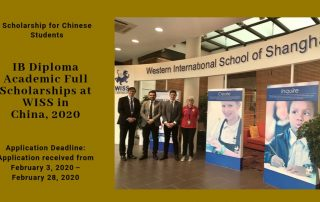 IB Diploma Academic fully-funded programmes at WISS in China, 2020